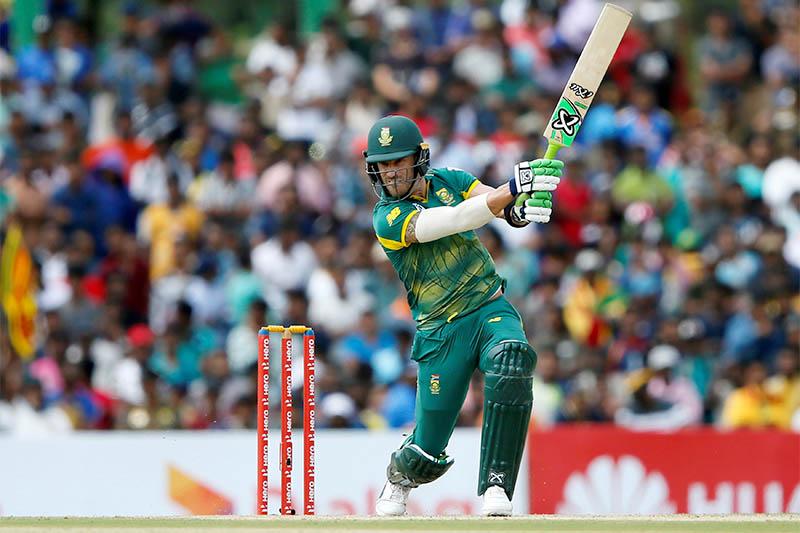 South Africa's captain Faf du Plessis plays a shot. Photo: Reuters