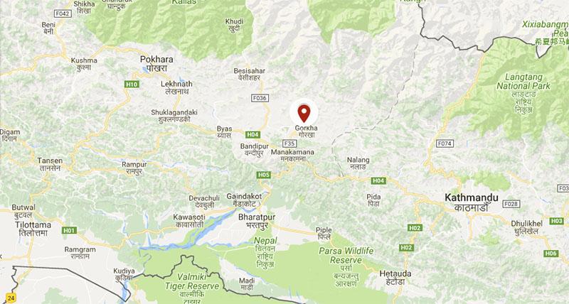 Gorkha map