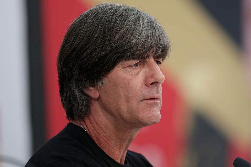 Germany coach Joachim Loew during the press conference. Photo: Reuters