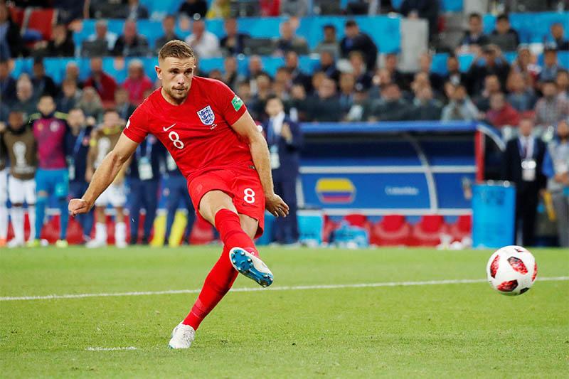 England's Jordan Henderson in action. Photo: Reuters