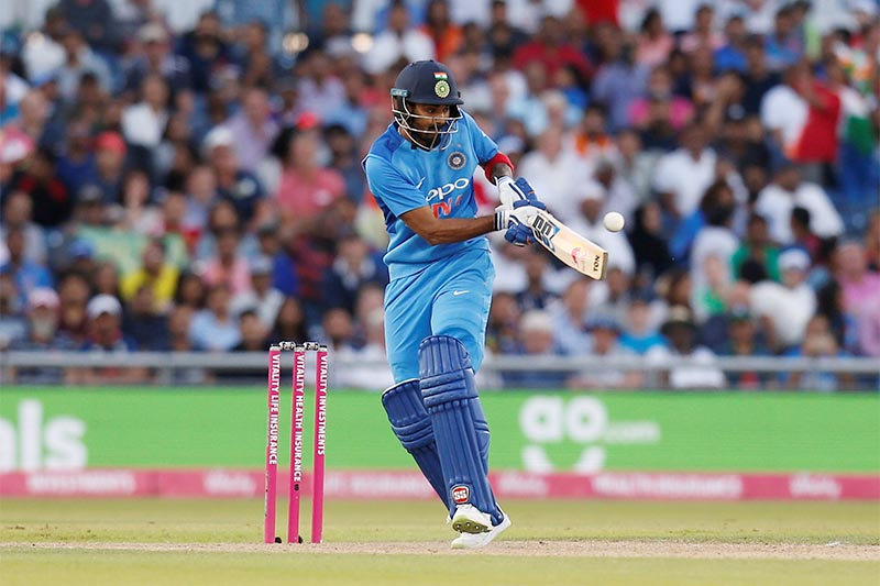 India's KL Rahul in action. Photo: Reuters