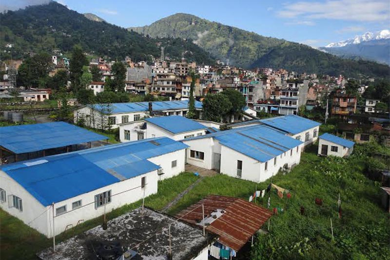 A view of community hospital buildings in Lamjung District, on Sunday, July 8, 2018. Photo: Ramji Rana