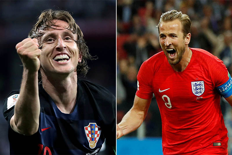 File: Croatia's midfielder Luka Modric (left) and England's striker Harry Kane. Photos: Reuters
