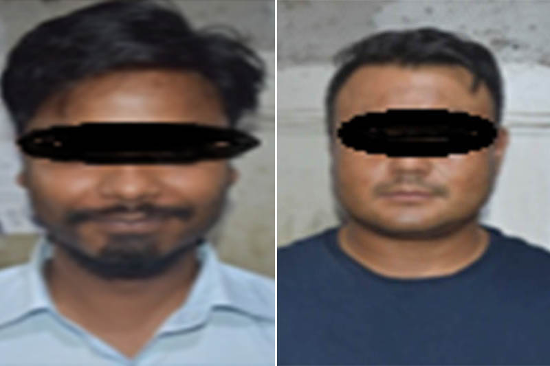 The suspects being made public by the Metropolitan Crime Division, Teku, in Kathmandu, on Sunday, July 15, 2018. Courtesy: MCD