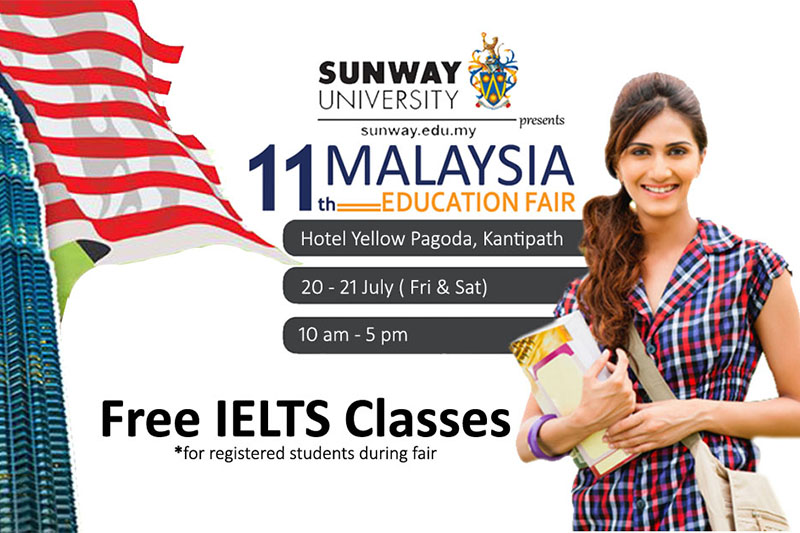A two-day 11th Malaysia Education Fair 2018 being organised in Kathmandu on Saturday and Sunday. Courtesy: Study Plus