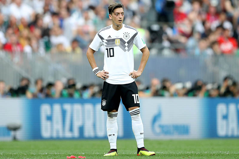 Germany's Mesut Ozil looks on during the match. Photo: Reuters