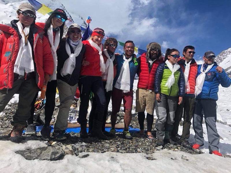 Climbers at base camp. Photo courtesy: Chhang Dawa Sherpa