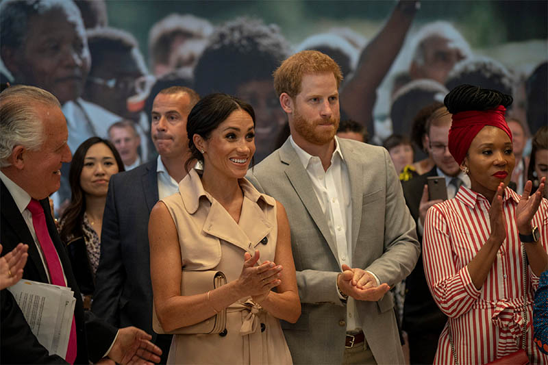 Britain's Prince Harry and Meghan, the Duchess of Sussex, visit the Nelson Mandela Centenary Exhibition at Southbank Centre's Queen Elizabeth Hall in London, Britain, July 17, 2018. Photo: Reuters