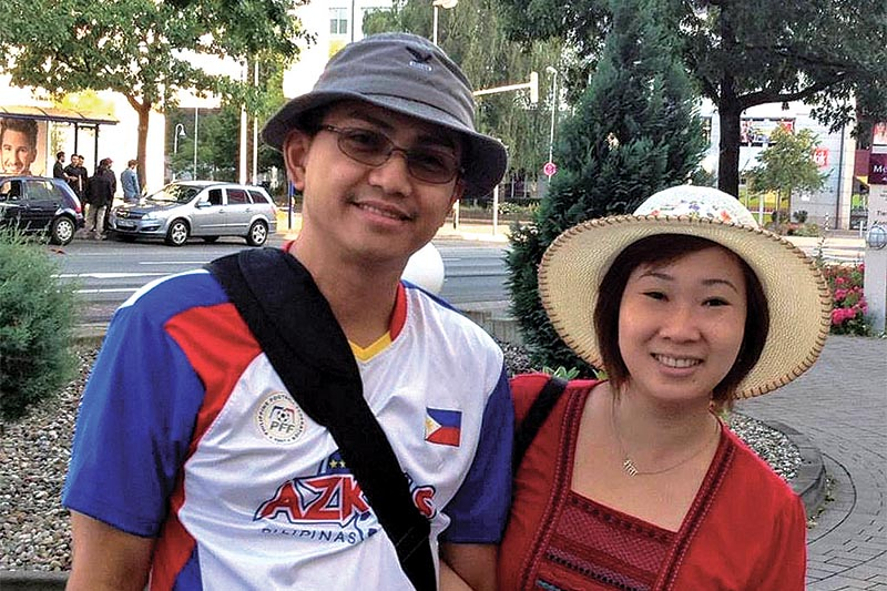 Philippine national De Vera Richard (left) and his Indonesian wife Rita Gonga. The couple staying in Nepal on business visa were operating a restaurant in Pulchowk and were working as pastors at a church in Lalitpur. They were deported to their countries on Friday.