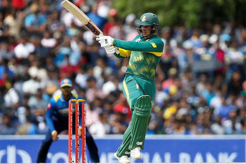 South Africa's Quinton de Kock plays a shot. Photo: Reuters