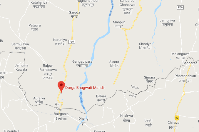 A map showing small localities in Rautahat. Photo: Google Maps