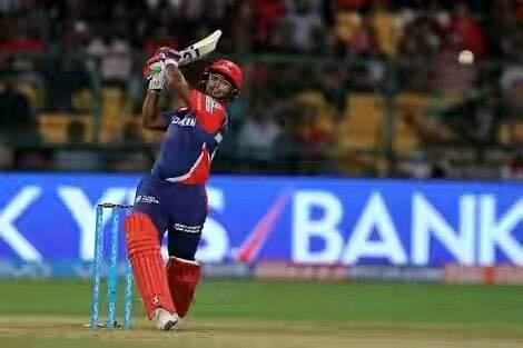 Delhi Daredevil's batsman Rishab Pant plays shot during Indian Premier League. Courtesy: Facebook/Pant