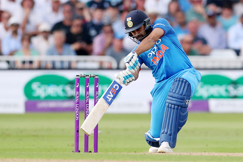 India's Rohit Sharma in action. Photo: Reuters