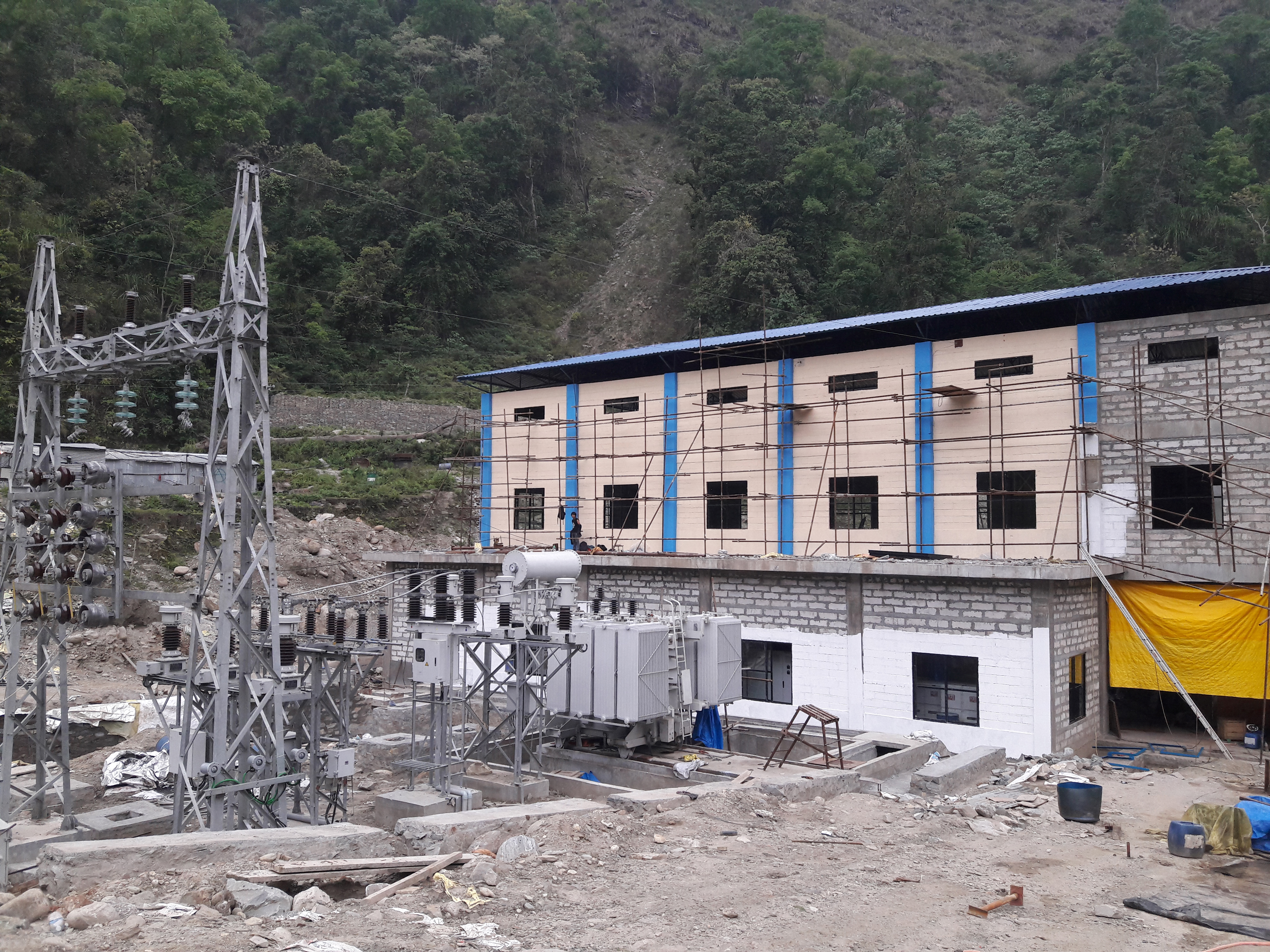 An undated image of an under-construction powerhouse of Rudi Khola 'A' hydropower project at the border of Lamjung and Kaski districts. Photo: Ramji Rana/THT