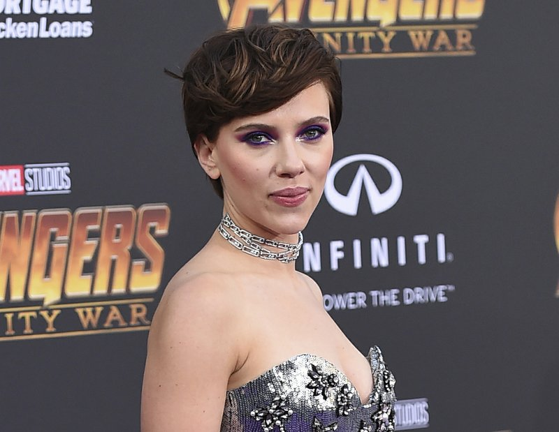 File - In this photo, Scarlett Johansson arrives at the world premiere of u201cAvengers: Infinity Waru201d in Los Angeles on April 23, 2018. Photo: AP