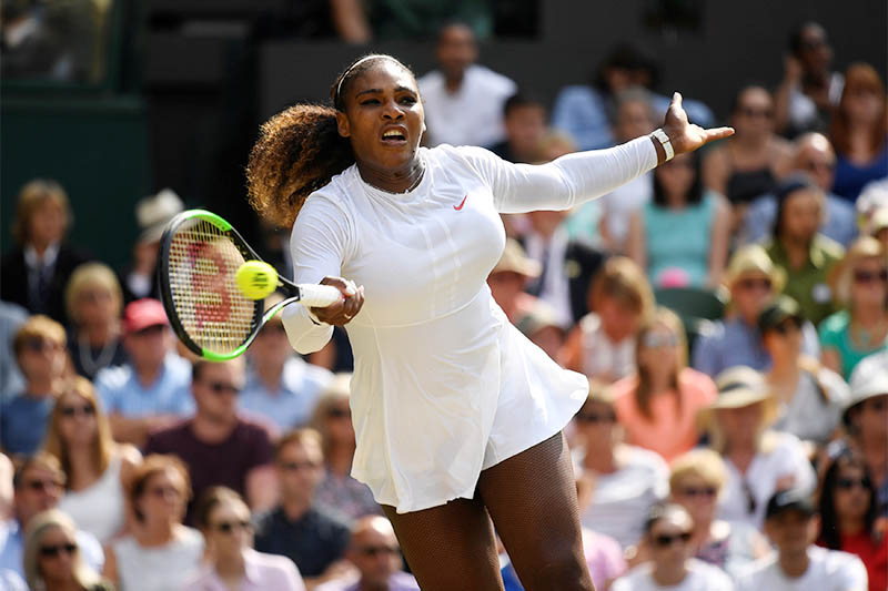 Serena Williams of the US in action during her semi final match against Germany's Julia Goerges. Photo: Reuters