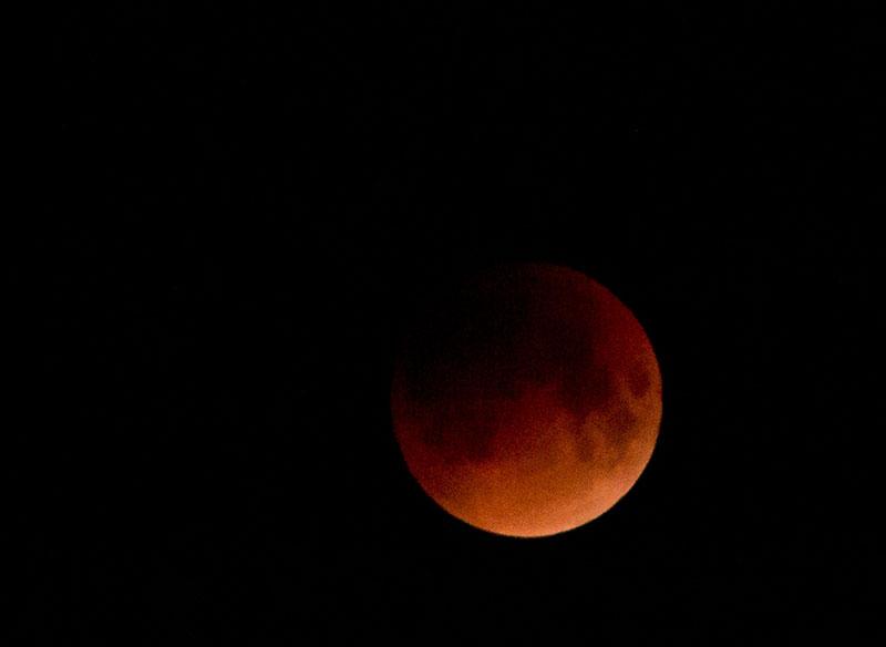 File Photo -  Total lunar eclipse as captured from Nagarkot, on January 31, 2018. Photo: Manisha Dwa/NASO