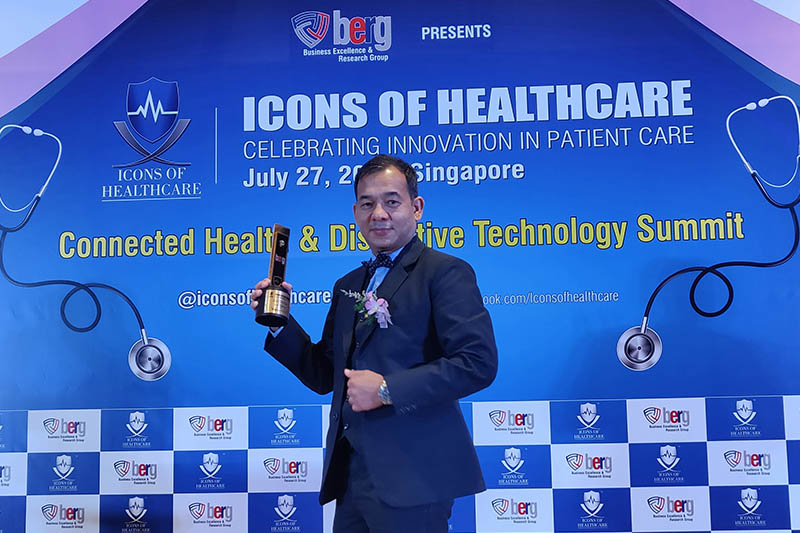 Dr Yam Bahadur Roka poses for a portrait after receiving 'Icons of Healthcare 2018' award in Singapore. Photo Courtesy: Dr Roka