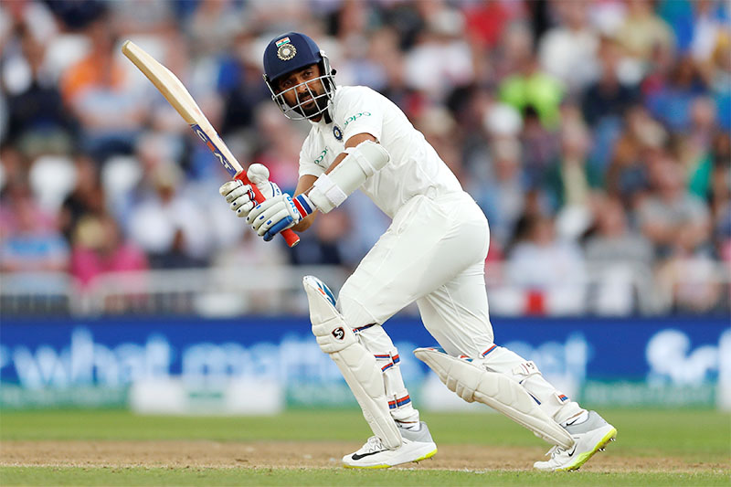 India's Cheteshwar Pujara in action. Photo: Reuters