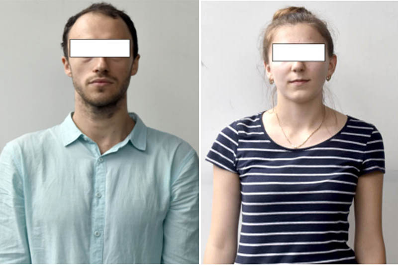 Bitali Bilya (26) and Nataliia Melnychuk (23), both Ukrainian who were held under charges of running a foreign employment scam. Photo:MCD