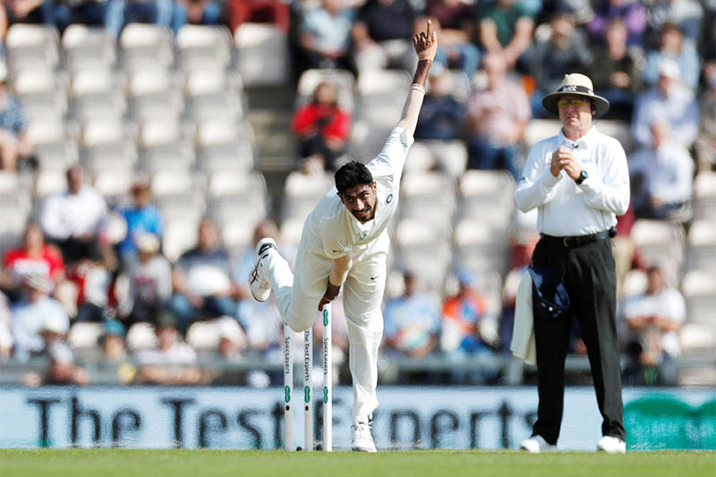 India's Jasprit Bumrah in action. Photo: Reuters