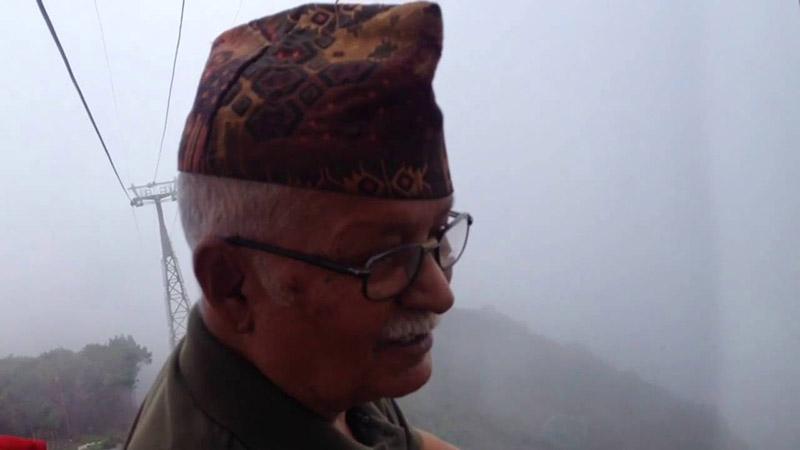 Veteran artist Manuj Babu Mishra. Photo: Youtube