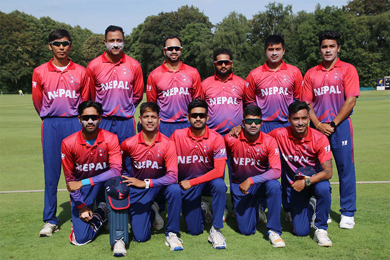 FILE: Nepal national cricket team players pose for a portrait prior to maiden ODI game vs the Netherlands in Amsterdam on Wednesday, August 01, 2018. Photo: Raman Shiwakoti