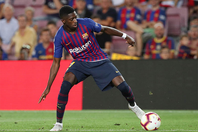 Barcelona's Ousmane Dembele in action. Photo: Reuters