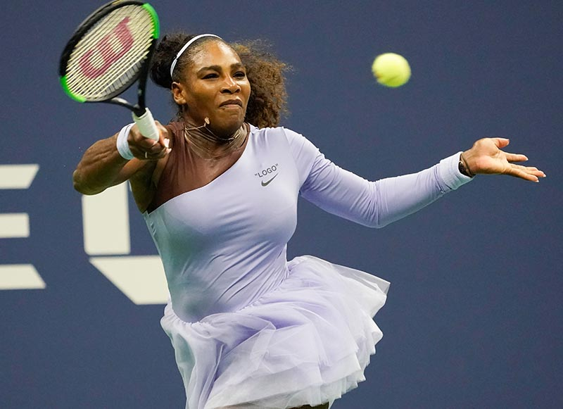 Serena Williams of the USA hits to Carina Witthoeft of Germany in a second round match on day three of the 2018 U.S. Open tennis tournament at USTA Billie Jean King National Tennis Center, in New York, NY, USA, on Aug 29, 2018. Photo: Robert Deutsch-USA TODAY Sports via Reuters