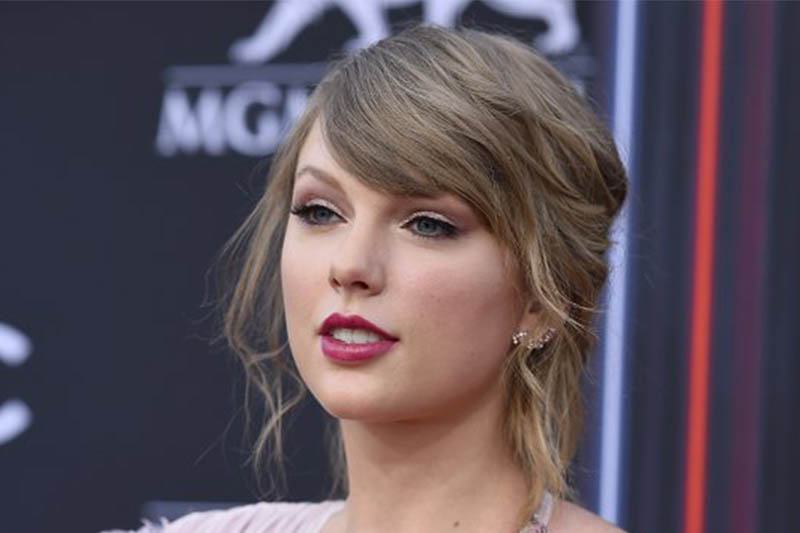 FILE: Taylor Swift arrives at the Billboard Music Awards at the MGM Grand Garden Arena in Las Vegas. Photo: AP