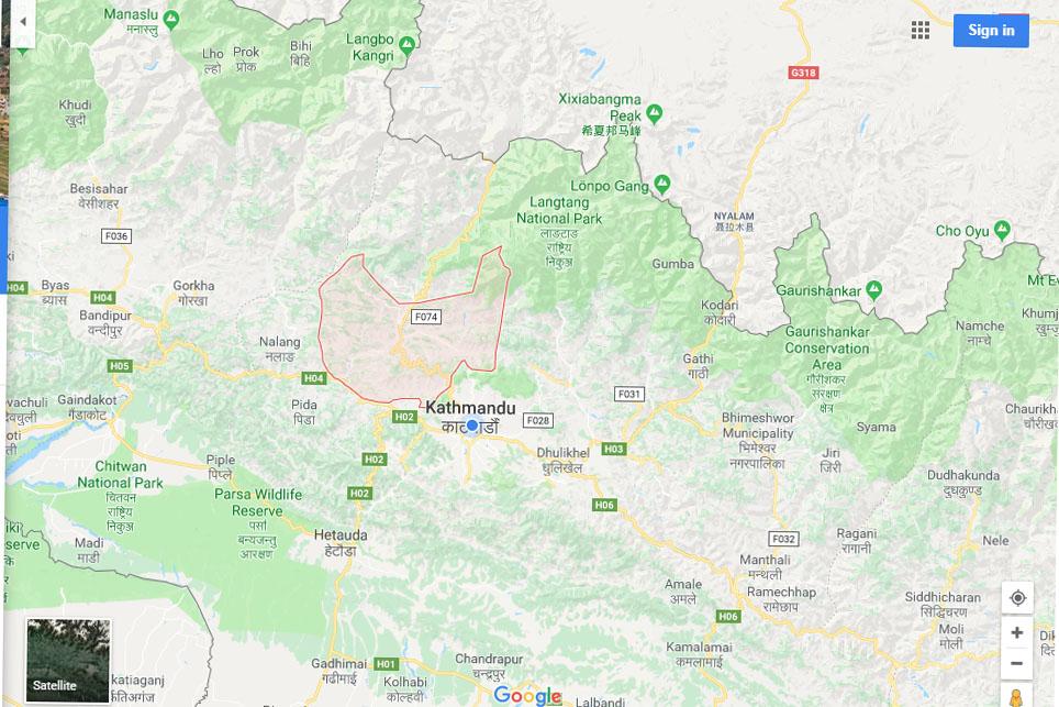 Nuwakot map