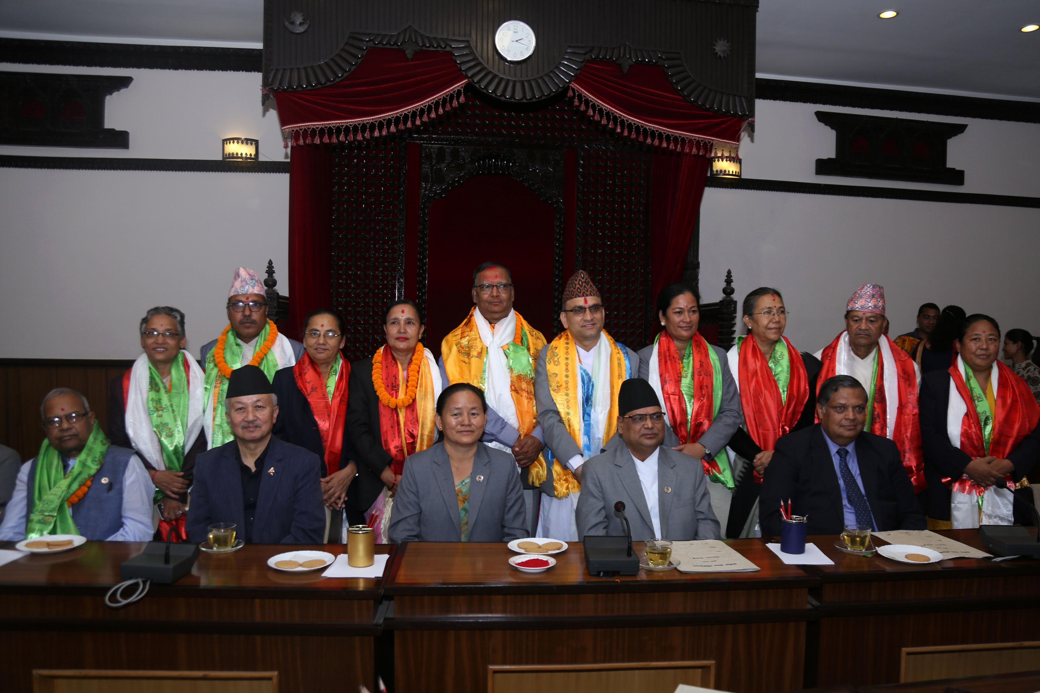 Newly elected presidents of the thematic committees of the lower house. Photo: RSS