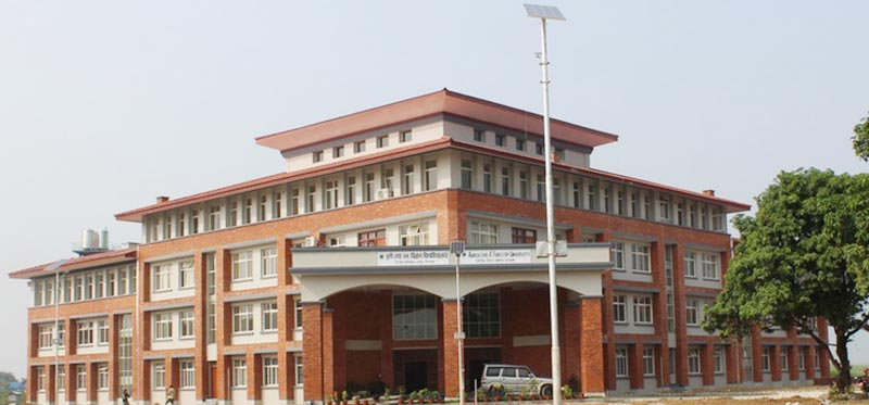 File- This undated image shows the central office building of Agriculture and Forestry University at Rampur, Chitwan. Photo: AFU