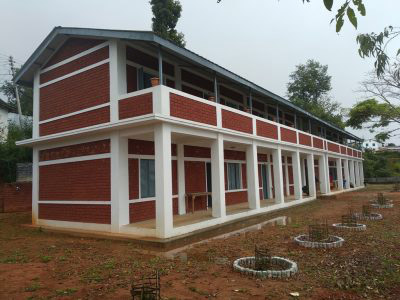 New Building of Bhojpur Multiple Campus constructed with the financial and technical support of Gorkha Welfare Trust Nepal. Photo: Niroj Koirala/THT