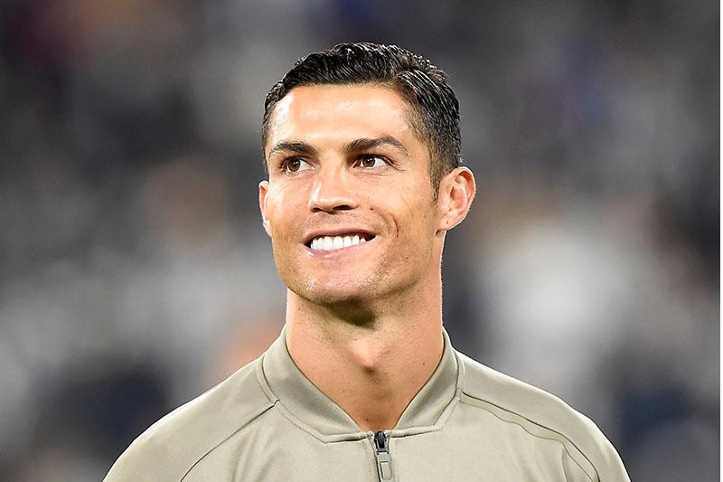 Juventus' Cristiano Ronaldo before the match. Photo: Reuters