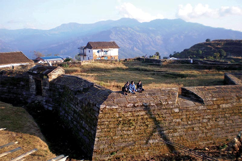 A view of the remnants of the historic Dullu palace, in Dailekh, on Friday, August 31, 2018. Photo: RSS