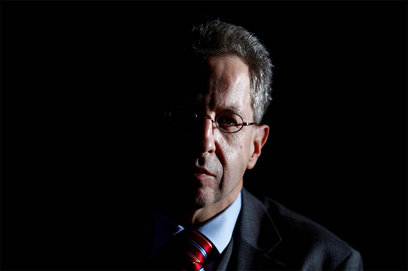 FILE PHOTO: Hans-Georg Maassen, President of the Federal Office for the Protection of the Constitution, attends a Reuters interview in Berlin, Germany January 30, 2018. Photo: Reuters