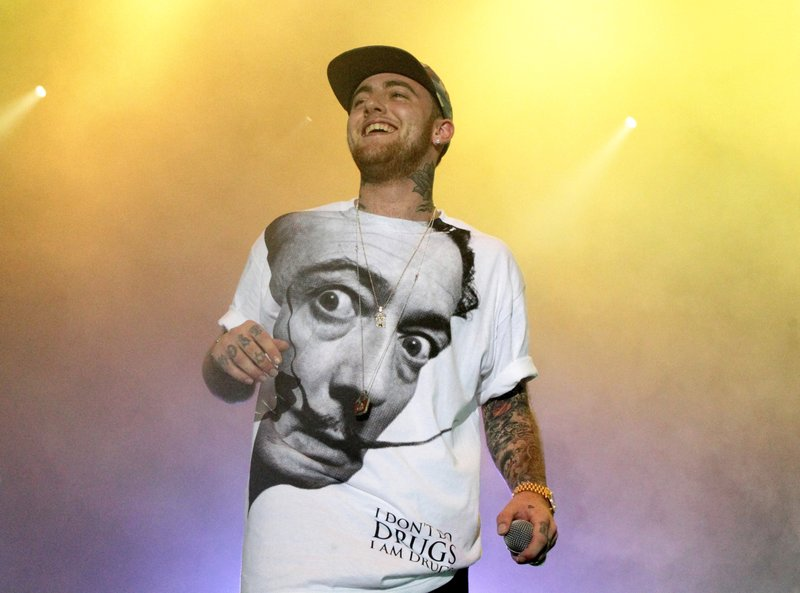 FILE - In this photo, Rapper Mac Miller performs on his Space Migration Tour at Festival Pier in Philadelphia on July 13, 2013. Photo: AP