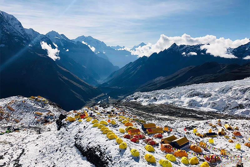 File: Manaslu base camp. Photo courtesy: Mingma David Sherpa