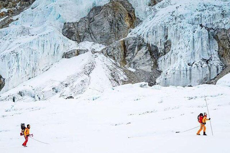File: Climbers heading to Mt Lhotse. Courtesy: Hilaree Nelson