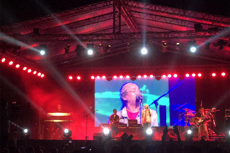 Nepathya performing live concert in Swayambhu. Photo: Mausam Shah Nepali