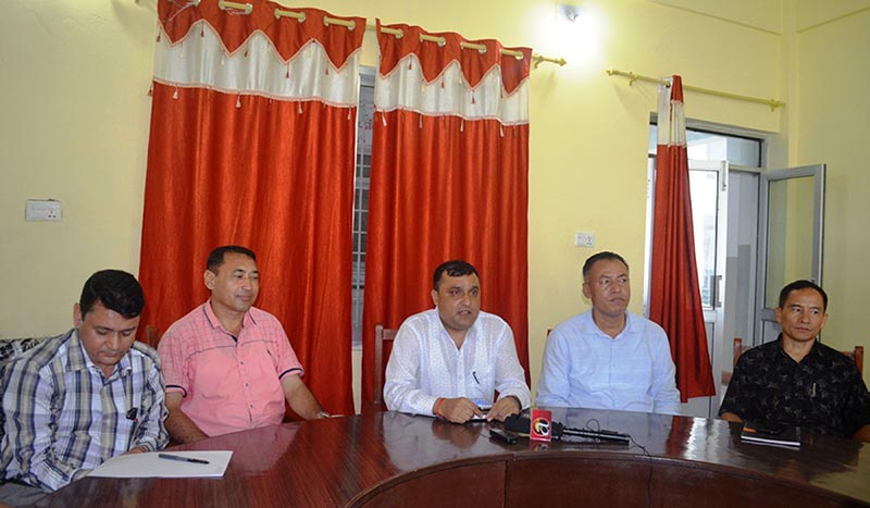 FILE: A high-level probe committee, formed by government under the leadership of Joint Secretary at the Ministry of Home Affairs Hari Mainali to investigate the rape and murder of 13-year-old Nirmala Panta, makes public the investigation progression at a press meet organised in Bhimdatta Municipality, Kanchanpur district, on Friday, September 7, 2018. The committee accused the police of negligence. Photo: RSS