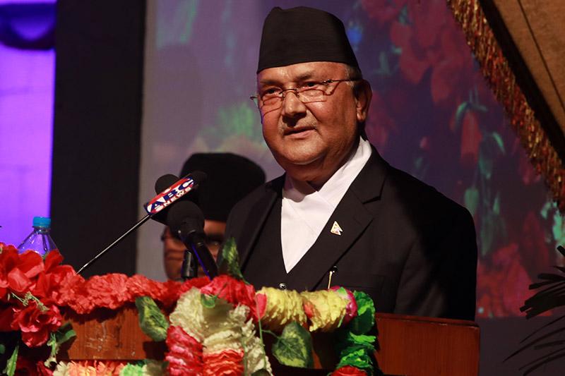 File - Prime Minister KP Sharma Oli. Photo: RSS