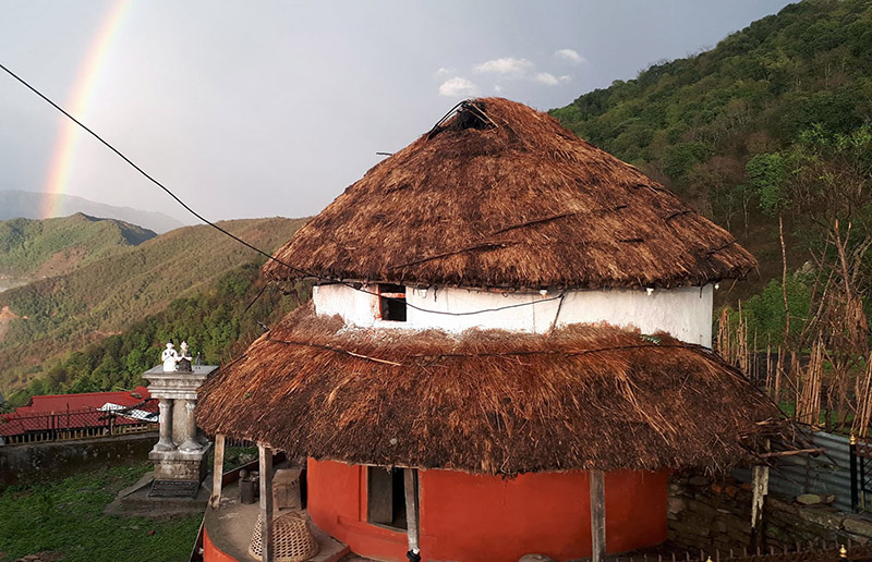 A circular house of traditional design, which has been conserved post reconstruction as a museum, in Rainaskot, Lamjung, as pictured on Thursday, September 27, 2018. Photo: RSS