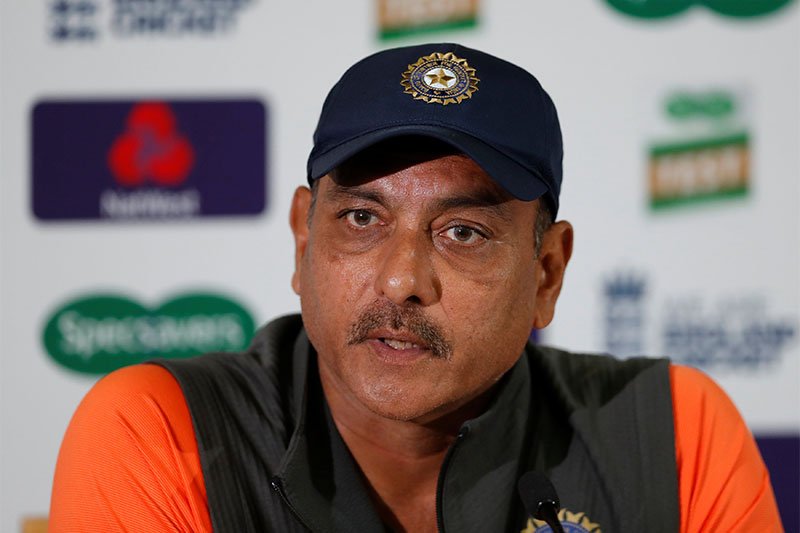 India head coach Ravi Shastri during a press conference. Photo: Reuters