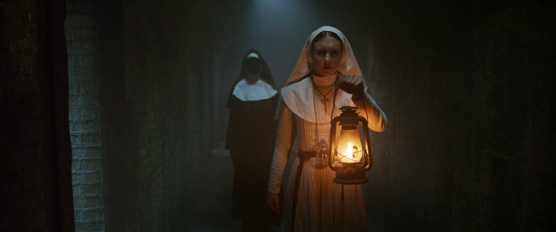 This image released by Warner Bros. Pictures shows Taissa Farmiga in a scene from u201cThe Nun.u201d Photo: APn