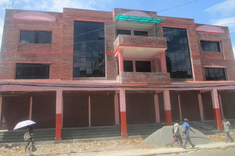 A view of the multi-purpose quake resistant building in Byas Municipality,Tanahun, on Tuesday, September 4, 2018. Photo: THT