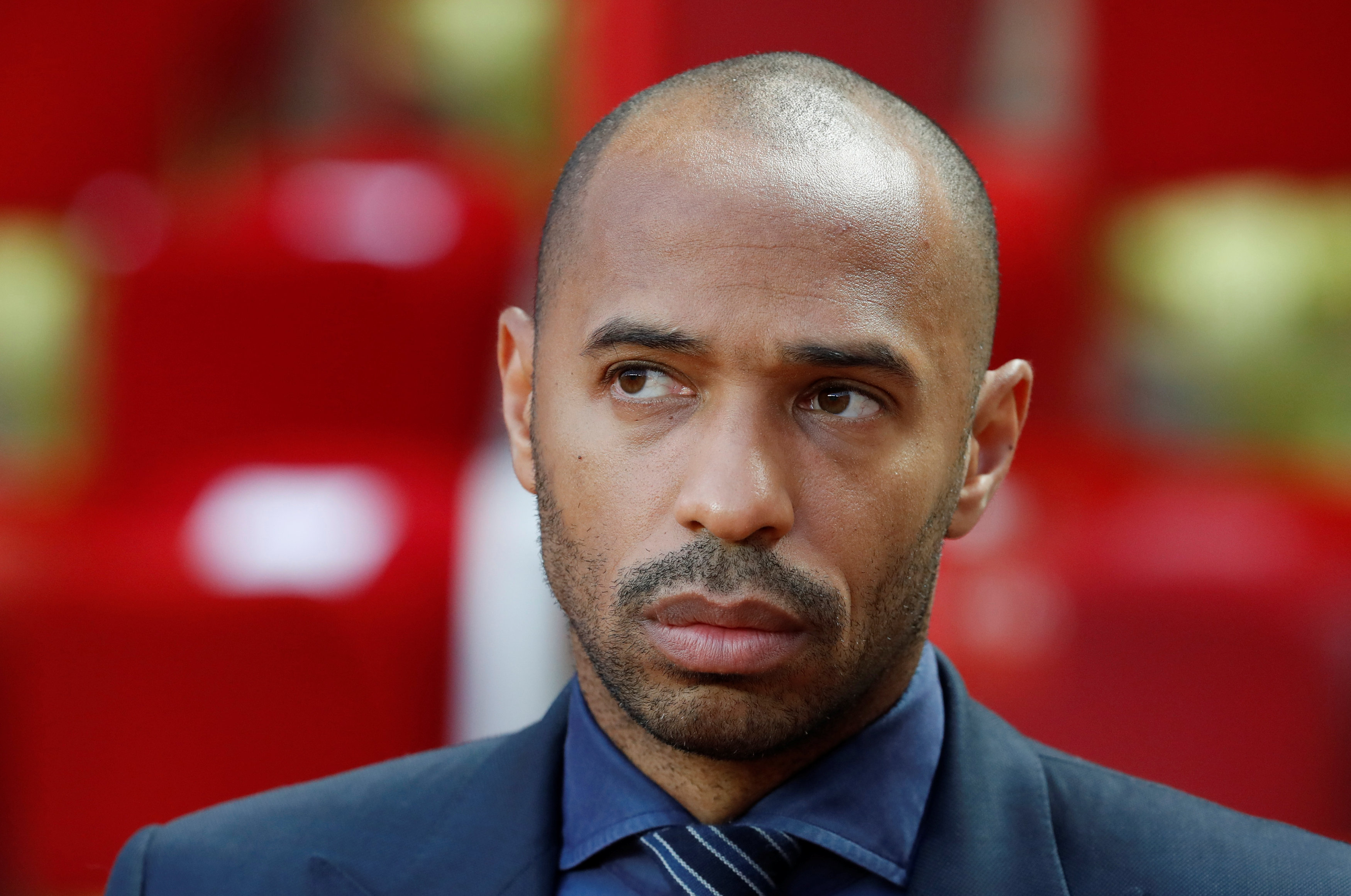 Soccer Football - Champions League - Group Stage - Group A - AS Monaco v Atletico Madrid - Stade Louis II, Monaco - September 18, 2018  Thierry Henry in the stadium before the match.   REUTERS