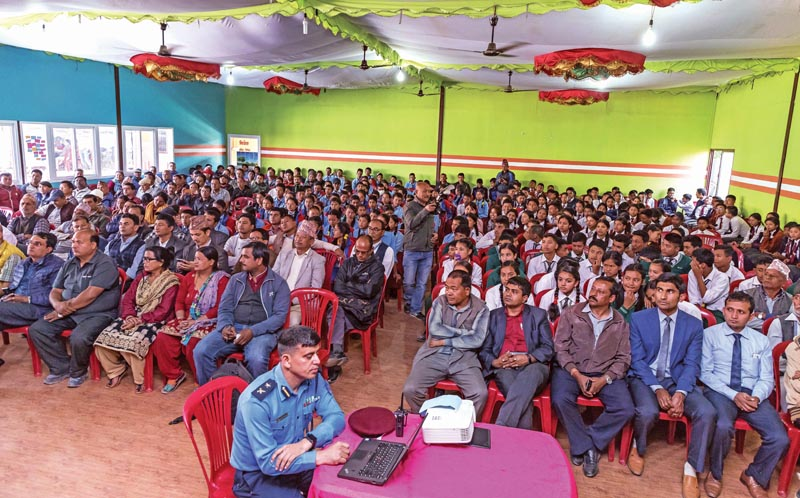 People participating in Community-Police Partnership programme, in Kathmandu, on Sunday, October 28, 2018. Photo: THT