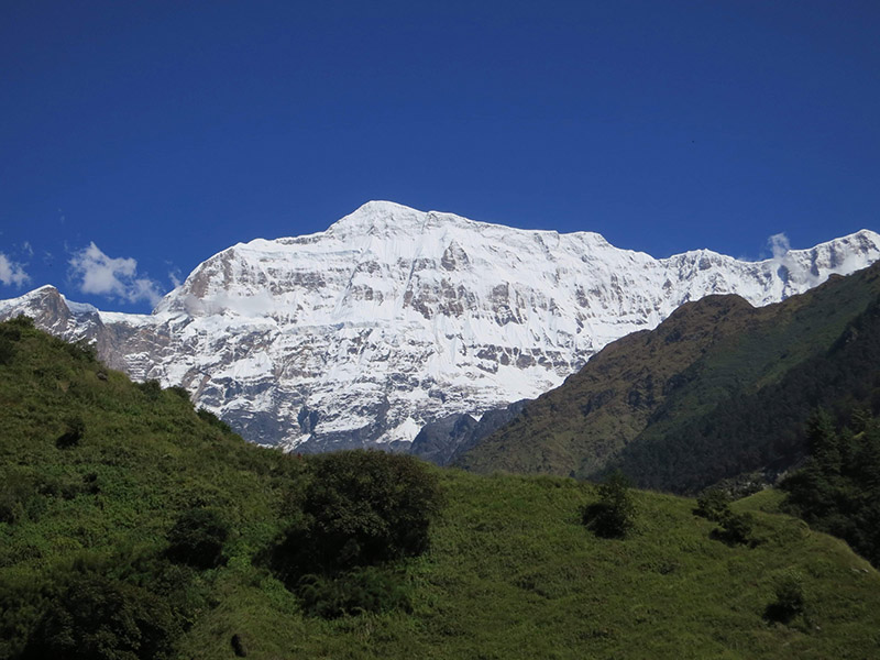 A view of the south face of Gurja Himal as pictured in October 2013. Photo courtesy: Damien Gildea